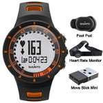 Suunto Quest Running Pack Orange Sports Fitness Watch W/hrm